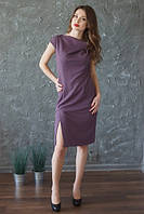 Платье Слива с хомутом и разрезом