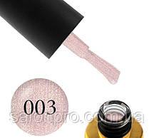 Гель-лак FOX Diamond № 003 (нежный розовый с золотистыми шиммерами), 6 мл