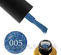 Гель-лак FOX Diamond № 005 (сине-сиреневый с плотными зелеными и синими блестками), 6 мл