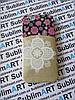 Дизайнерский чехол ручной работы для Iphone 5/5s (цветы с кармашком)