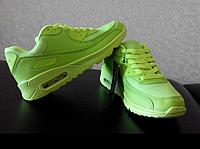 ПОСЛЕДНЯЯ ПАРА!!! Кроссовки женские салатовые Реплика Nike AirMax новые 38р