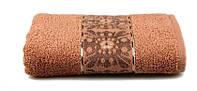 Махровое полотенце ORIENTAL (коричневое) 50х90см