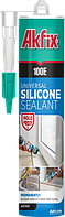 Универсальный силиконовый герметик  Akfix 100E 280мл серый