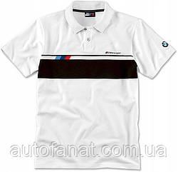 Оригинальная мужская рубашка поло BMW M Motorsport Polo-Shirt, Men, White (80142461106)