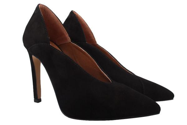 Туфли женские на шпильке Roberto Netti натуральная замша, цвет черный, Украина.