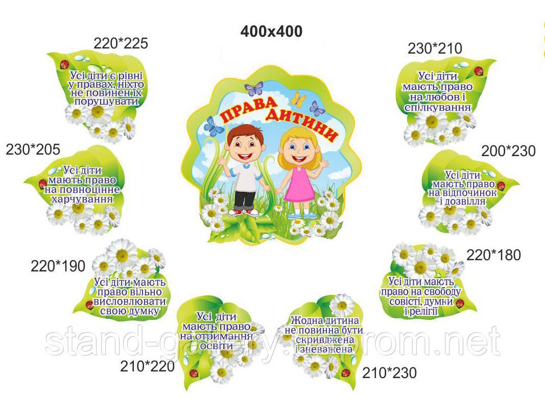 """Композиция стендов для детского сада """"Права ребенка"""""""