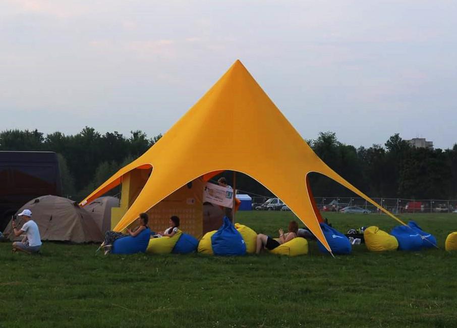 Аренда палатки Звезда на 10-16 человек