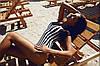 Купальники-боди в полоску (бифлекс, не просвечивается) Размер универсальный (42-44) (10061), фото 2