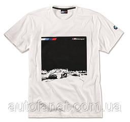 Оригинальная мужская футболка BMW Motorsport Graphic T-Shirt, M8 GTE, Men, White (80142461096)