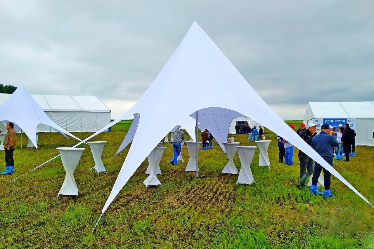 Аренда палатки Звезда - цвет белый - под ключ