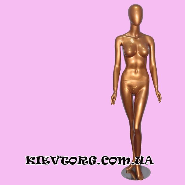 Манекен женский золотой безликий