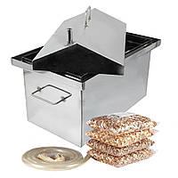 Коптильня Мала нержавійка + термометр | 1,5 мм | 440х250х260