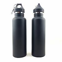 Спортивная вакуумная бутылка для воды фляга с карабином MP-V03 , фото 1