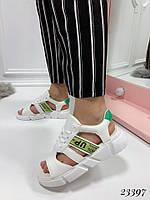 Босоножки Balenciaga со шнуровкой белые. Аналог, фото 1
