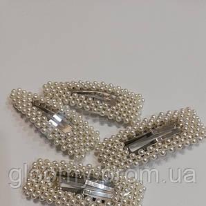 Заколка-хлопавка з перлами