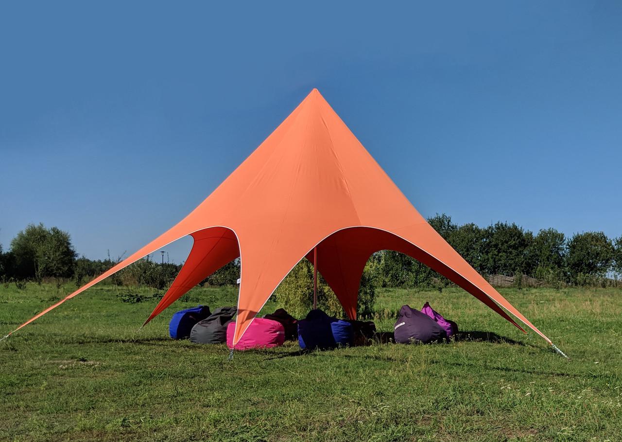 Аренда палатки Звезда - цвет оранжевый - под ключ