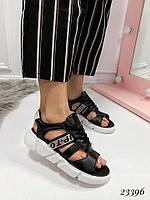 Босоножки Balenciaga со шнуровкой черные. Аналог, фото 1