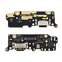 Разъём зарядки для XIAOMI Mi6X/Mi A2 (USB Type-C) на плате с микрофоном и компонентами
