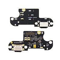 Разъём зарядки для XIAOMI Mi8 Lite (USB Type-C) на плате с микрофоном и компонентами