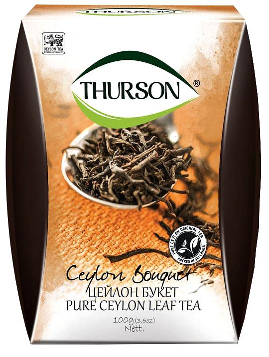 Чай черный листовой Thurson Цейлон ФБОП 100 гр.