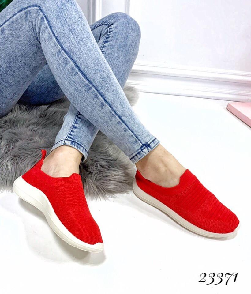 Слипоны-носочки текстиль красные