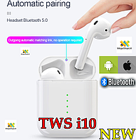 Bluetooth Наушники TWS AirPods i10 NEW Сенсорные. Беспроводные наушники Bluetooth i10 TWS