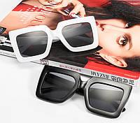 Стильные женские квадратные солнцезащитные очки, ТРЕНД 2021 г, Черные