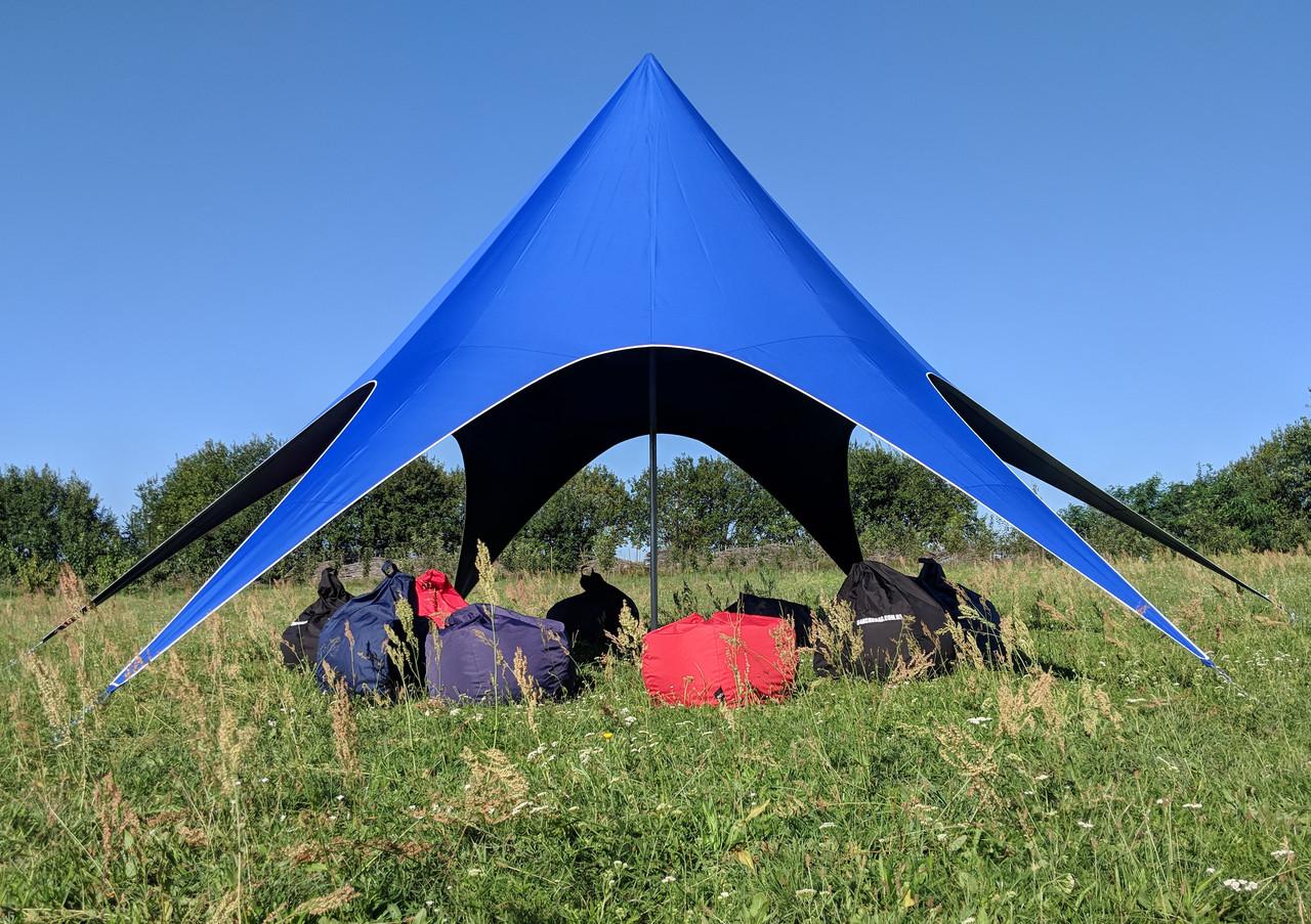 Аренда палатки Звезда - цвет синий
