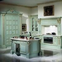 Кухня-с деревянными фасадами  на фурнитуре Linken System или GTV