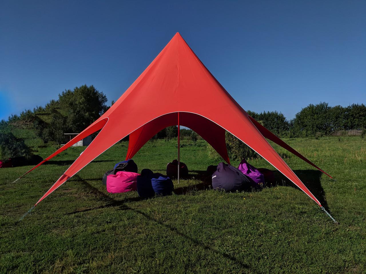 Аренда палатки Звезда - цвет красный