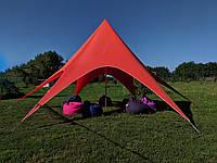 Аренда палатки Звезда - цвет красный, фото 1