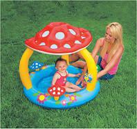 Надувной детский бассейн Грибочек