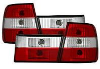 Фонари задние красно-белые для BMW 5 E34 88-97