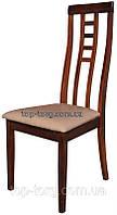 Стул деревянный 312-2 темный орех с мягким сиденьем