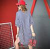 Хлопковое платье-рубашка 44-54 (в расцветках), фото 6