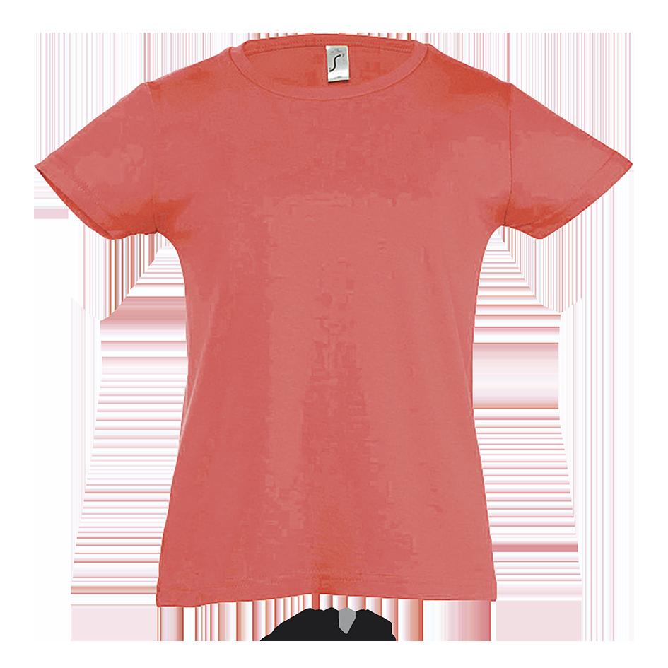 Детская футболка для девочек, коралловый, REGENT CHERRY, для детей от 2 до 12 лет