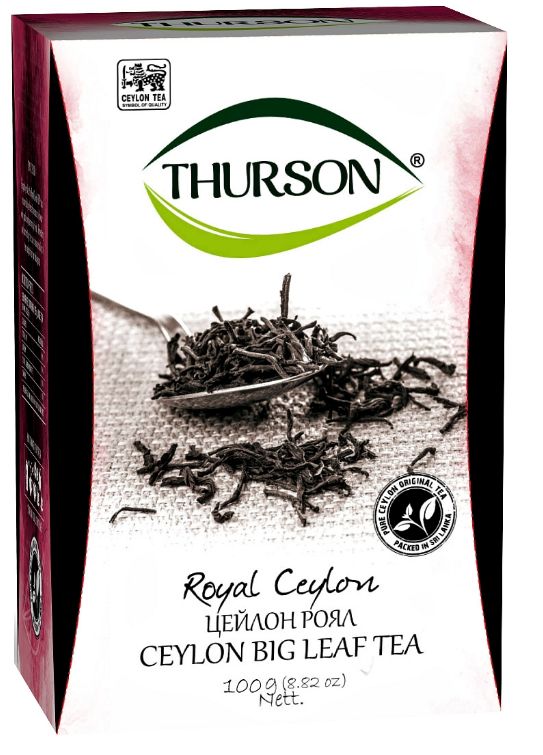 Чай чорний крупнолистовий Thurson Цейлон Роял 100 грам