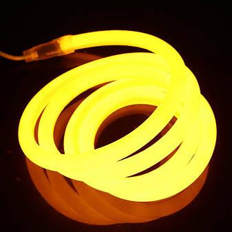 Гибкий светодиодный Неон 3м, толщина 2.3мм  желтый, фото 2