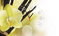 """Часы настенные стеклянные """"Орхидея"""""""