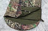 Тактический спальник + компрессионный мешок (-2/-7). Спальный мешок для похода весна и осень, фото 8