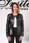 Куртка Кожаная Шанель - Воротник Пояс 001ДЛ, фото 2