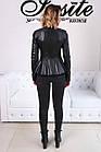 Куртка Кожаная Шанель - Воротник Пояс 001ДЛ, фото 4