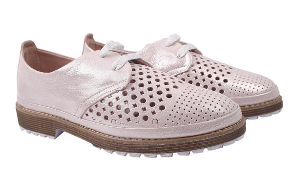 Туфли комфорт Aquamarin натуральный сатин, цвет пудра