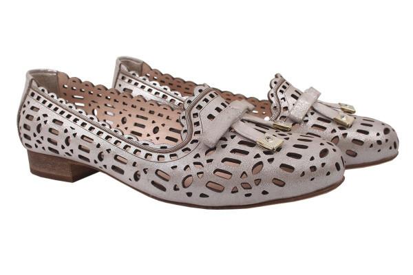Туфли комфорт Aquamarin натуральный сатин, цвет капучино