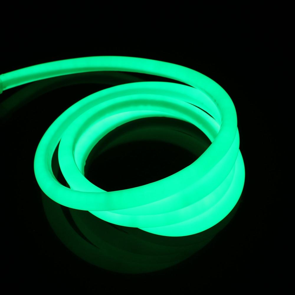 Гибкий светодиодный Неон 3м, толщина 2.3мм  флуоресцентный зеленый