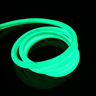 Гибкий светодиодный Неон 3м, толщина 2.3мм  флуоресцентный зеленый, фото 2