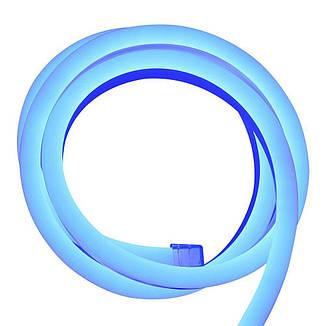 Гибкий светодиодный Неон 3м, толщина 2.3мм прозрачный синий, фото 2