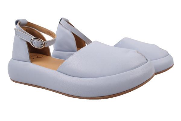 Туфли комфорт женские летние Aquamarin Турция натуральная кожа, цвет голубой