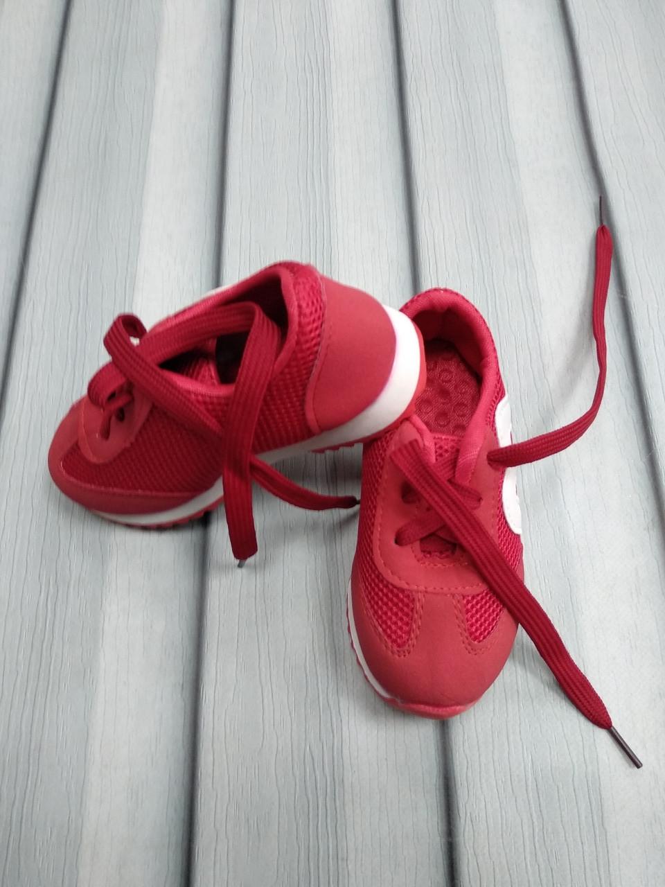 Кроссовки  красные в сеточку