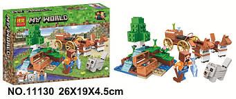 """Конструктор Minecraft BELA 11130 майнкрафт """"скарбниця у оазису в пустелі"""" 162 деталей ( аналог лего майн"""